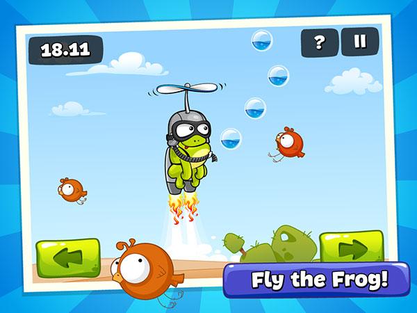 Прыгай в игру tap the frog: doodle в которой целых 24 лягушко-скакательных, метеорито-разбивательных