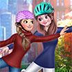 Anna And Elsa Roller Skating